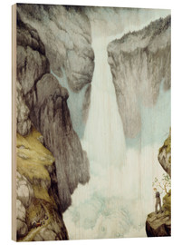 Wood  At the waterfall - Theodor Kittelsen