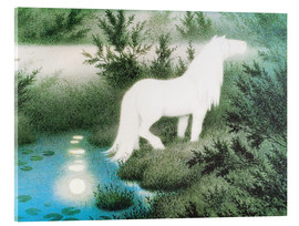Acrylic print  The Nix as a white horse - Theodor Kittelsen