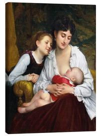 Canvas  Motherly Love - Leon Bazile Perrault