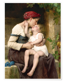 Premium poster  Mother and Child - Leon Bazile Perrault
