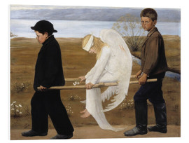 Foam board print  The wounded angel - Hugo Simbert