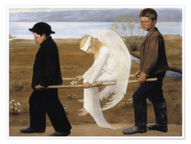Poster  The Wounded Angel - Hugo Simbert