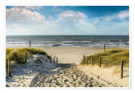 Premium poster  Path through the dunes to the beach - Peter Roder