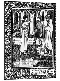 Aubrey Vincent Beardsley - The Lady of the Lake and Arthur