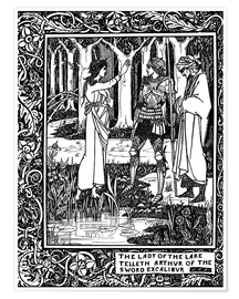 Poster  The Lady of the Lake and Arthur - Aubrey Vincent Beardsley