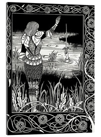 Acrylic print  How Sir Bedivere Cast the Sword Excalibur into the Water - Aubrey Vincent Beardsley