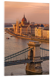 Acrylic glass  Budapest late afternoon - Fine Art Images