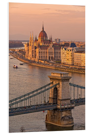 Foam board print  Budapest late afternoon - FineArt Panorama
