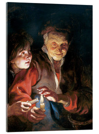 Acrylic print  Night Scene - Peter Paul Rubens