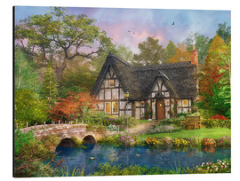 Aluminium print  The Stoney Bridge Cottage - Dominic Davison