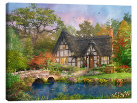 Canvas print  The Stoney Bridge Cottage - Dominic Davison