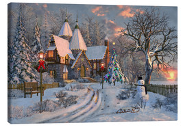 Canvas print  Christmas house - Dominic Davison