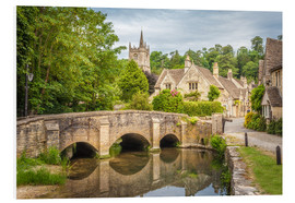Foam board print  The village of Castle Combe, Wiltshire (England) - Christian Müringer