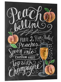 Foam board print  Peach Bellini recipe - Lily & Val