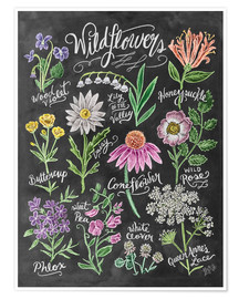 Premium poster  Wildflowers Chalk - Lily & Val