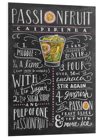 Foam board print  Passion Fruit Caipirinha recipe - Lily & Val