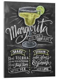 Acrylic glass  Margarita recipe - Lily & Val