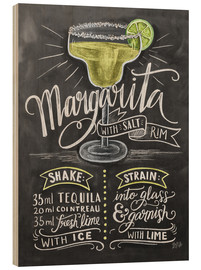 Wood print  Margarita recipe - Lily & Val