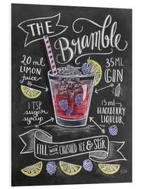 Foam board print  Bramble cocktail - Lily & Val