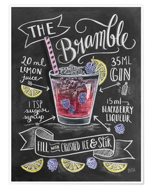 Premium poster Bramble cocktail