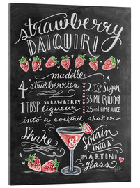 Acrylic print  Strawberry Daiquiri recipe - Lily & Val
