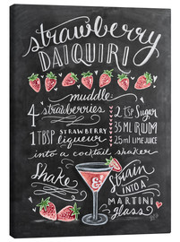Canvas print  Strawberry Daiquiri recipe - Lily & Val