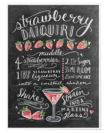 Premium poster  Strawberry Daiquiri recipe - Lily & Val