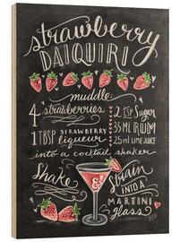 Wood  Strawberry Daiquiri Recipe - Lily & Val