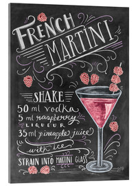 Acrylic print  French Raspberry Martini recipe - Lily & Val