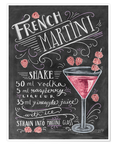 Poster French Martini Raspberry
