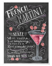 Poster  French Raspberry Martini recipe - Lily & Val