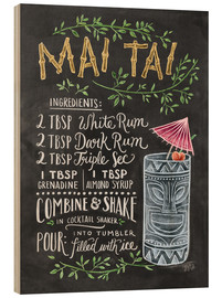 Wood print  Mai Tai recipe - Lily & Val