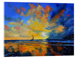 Acrylic glass  Sail under sunset Kopie - Jean-Marc Janiaczyk