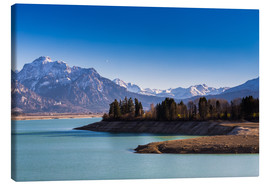 Canvas print  Lake in Bavaria with Alps - Michael Helmer