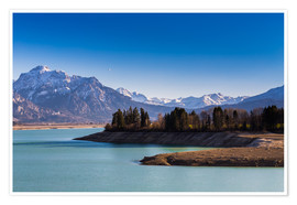 Poster Lake in Bavaria with Alps