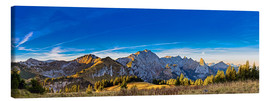 Canvas print  Sunrise in the Bavarian Alps - Michael Helmer