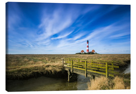 Canvas print  Westerhever lighthouse Sankt Peter Ording - Dennis Stracke