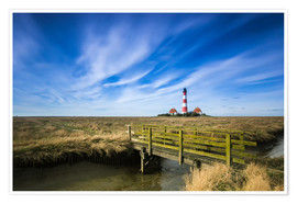Premium poster Westerhever lighthouse Sankt Peter Ording