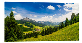 Acrylic print  Valley of Tannheim in Tyrol, Austria - Michael Helmer