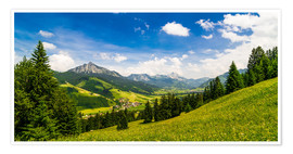 Premium poster  Valley of Tannheim in Tyrol, Austria - Michael Helmer