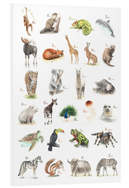 Foam board print  ABC animals (German) - Nadine Conrad
