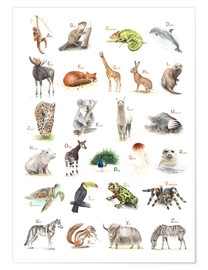 Premium poster  ABC animals (German) - Nadine Conrad