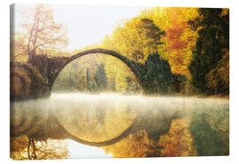 Canvas print  Foggy Rakotzbridge - Marcus Klepper