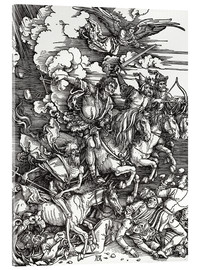 Acrylic glass  The Four Apocalyptic Horsemen - Albrecht Dürer
