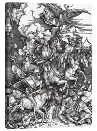 Canvas print  The Four Apocalyptic Horsemen - Albrecht Dürer