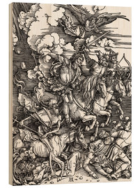 Wood print  The Four Apocalyptic Horsemen - Albrecht Dürer