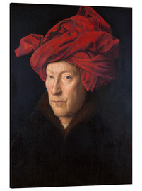 Aluminium print  Man with a red turban - Jan van Eyck