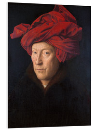 Foam board print  Man with a red turban - Jan van Eyck