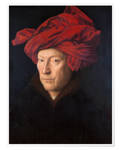Premium poster Man with a red turban