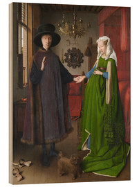 Wood print  Arnolfini Wedding - Jan van Eyck